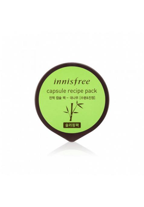 Капсульная ночная маска для лица с экстрактом бамбука Innisfree Capsule Recipe Pack Bamboo (10 мл)