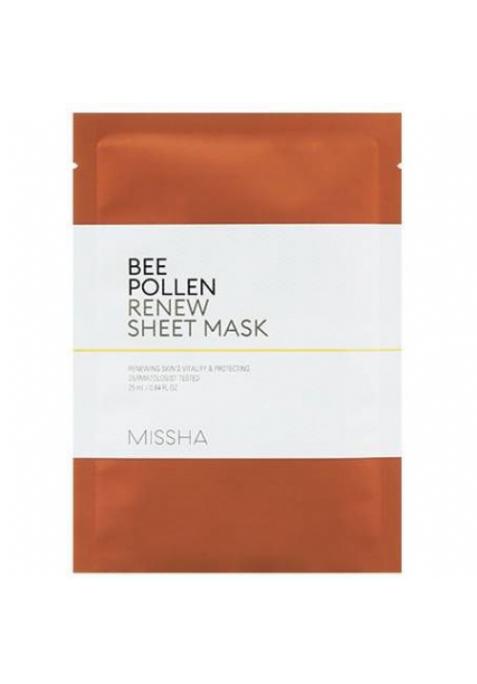 Обновляющая тканевая маска с пчелиной пыльцой Missha Bee Pollen Renew Sheet Mask (25 мл)